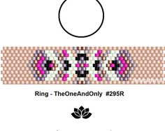 peyote ring pattern,PDF-Download, #295R, beaded ring pattern, beading tutorials, ring pattern
