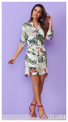 LOOKBOOK 2 – Cora Canela Short Summer Dresses, Simple Dresses, Elegant Dresses, Casual Dresses For Women, Casual Outfits, Summer Fashion Outfits, Skirt Fashion, Fashion Dresses, Tropical Dress