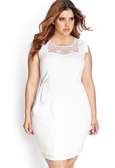 1fd195ec809  ShopPolyvore for summer wedding! Ornate Lace Bodycon Dress