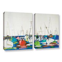 Melissa Lyons's Marina, 2 Piece Gallery Wrapped Canvas Set