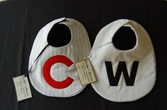 Chicago Cubs Baseball Inspired Bibs by CarolynsClassics on Etsy, $20.00