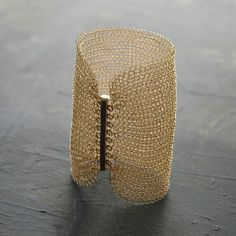 How amazing is this?! Cleopatra Gold filled cuff crocheted withgold filled wire from yoola on @Etsy!