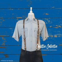 Leather Suspenders by Creattive Collective on Etsy