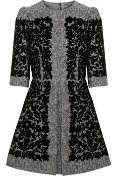 Grey dress with black lace by Dolce & Gabbana