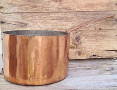 Early 19th Century Dovetail Copper Saucepan circa 1820 Fabulous! on rubylane.com $275