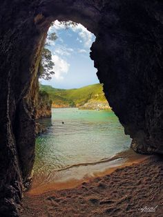 Private beach in Corfu