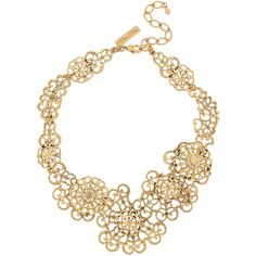 Oscar de la Renta 24-karat gold-plated necklace ($223) ❤ liked on Polyvore featuring jewelry, necklaces, accessories, oscar de la renta, colares, oscar de la renta necklace, 24k jewelry, cut out necklace, 24-karat gold jewelry and 24 karat gold necklace