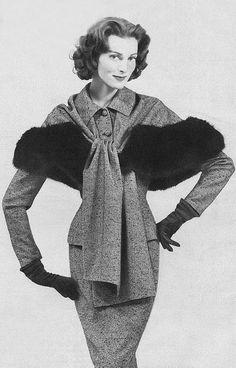 Carmen Dell'Orefice in Lilli Ann, 1958 @vintageclothin.com