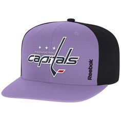 sale retailer 887e6 8c740 Men s Washington Capitals Reebok Purple Hockey Fights Cancer Snapback Adjustable  Hat, Your Price   27.99