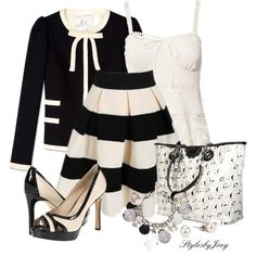 Love black and white! The jacket not my style!