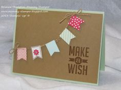 SAB, Sale-a-bration, 2014, Banner Blast, Stampin' Up!, Banner Punch, Perfect Pennants, Brianna Thompson AKA Mommy Stamper