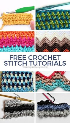 Crochet Stitch Tutorials Crochet Stitch Tutorials,Crochet Stitches & Crochet Tutorials Learn over crochet stitches to help you on your crochet journey! These different crochet stitch patterns are perfect for blankets, hats and much. Different Crochet Stitches, Easy Crochet Stitches, Stitch Crochet, Crochet Stitches For Beginners, Crochet Quilt, Afghan Crochet Patterns, Crochet Videos, Crochet Basics, Stitch Patterns
