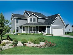 Home Has Unique Angled Front Entry   Plan 038D-0055