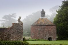 The eighteenth-century dovecote in the garden at Antony, Cornwall.