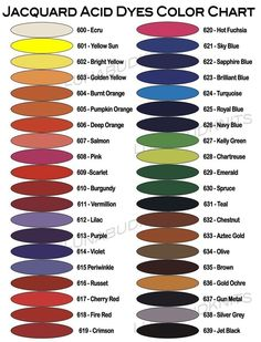 Jacquard Acid Dye Color Mixing Chart - Yahoo Image Search Results