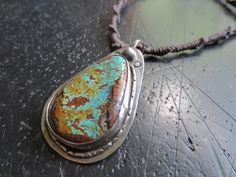 Old Kingman turquoise on silver.