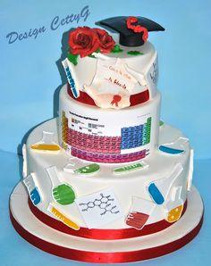 Le torte decorate di CettyG...: Laurea in Chimica....