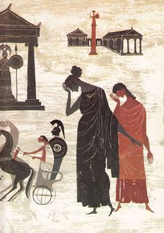 Vibrant Vintage Illustrations of Homer's Iliad and Odyssey by Alice and Martin Provensen – Brain Pickings