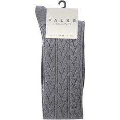 Falke Cable knee high sock ($23) ❤ liked on Polyvore featuring intimates, hosiery, socks, accessories, fillers, women, falke, cable knit socks, knee hi socks and cable knee socks