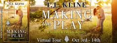 The Book Junkie's Reads . . .: Virtual Tour - MAKING THE PLAY (Hidden Falls, #1) by T.J. Kline