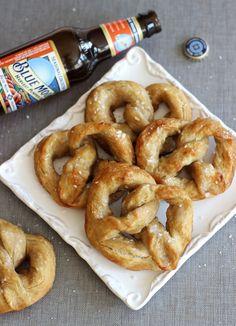pumpkin beer soft pretzels
