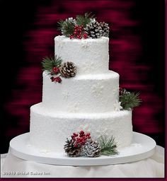 Image result for rustic winter wedding cake