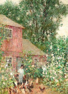 helen m. turner | Helen M. Turner (1858-1958), The Old House, 1919, oil on canvas, 30 ¼ ...