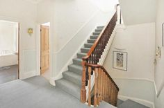 Grey hallway carpet