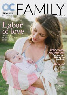Cover of OC Register Family magazine, January 2014 #layout #magazine #design #cover #parenting
