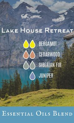 Escape to the lake anytime with this great diffuser oil blend #ad #essentialoils