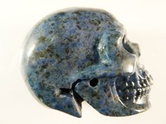 Dumortierite Skull 2 Inch 98g Realistic Carved Stone Blue Quartz Crystal Healing Meditation Intuition Scrying Gemstone by SandiLaneFineArt on Etsy