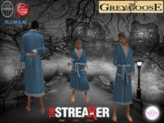 (WEAR ME) The Streaker Mens Robe (Winter) secondlife, sl, avatar, men, robes,robe