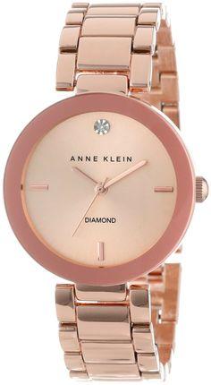 Women watches: Guide buy Anne Klein Women's AK/1362RGRG Rose Gold-Tone Diamond-Accented Bracelet Watch