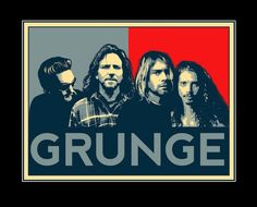 Grunge: Layne Staley (Alice in Chains), Eddie Vedder (Pearl Jam), Kurt Cobain (Nirvana), and Chris Cornell (Soundgarden). Love everyone of them except for Pearl Jam. Eddie Vedder, Chris Cornell, Pearl Jam, Music Metal, Music Rock, Trip Hop, Alice In Chains, Nirvana, Hard Rock