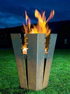cheminee design creatif pour jardin                                                                                                                                                                                 Plus