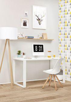 Que pensez-vous de ce petit espace bureau au style scandinave ?