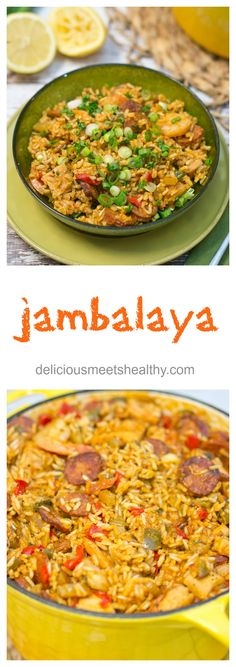 Jambalaya - yummy! This recipe is so flavorful and delicious! #cleaneating #healthy #nutritious #eatclean #cajun #spicy #onepotmeal www.deliciousmeetshealthy.com