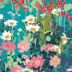 Art Gallery Fabrics - Mother's Garden Rich - Lavish Collection - Katarina Roccella - By The Yard by PKFabulousFabric on Etsy