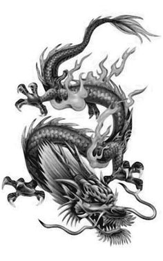 These are the Most Beautiful Dragon Tattoos For Girls.These are some selected Dragon tattoo designs you should check for yourself Chinese Tattoo Designs, Dragon Tattoo Designs, Fake Tattoos, Cool Tattoos, Awesome Tattoos, Dragon Tatoo, Korean Dragon, Muster Tattoos, Japanese Dragon Tattoos