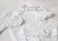 """Крестильный комплект """"Виктория"""" - белый,крестильное платье,крещение,Крестины"""