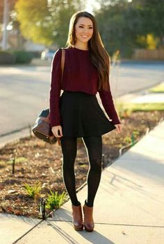 Winter / autumn #skirt #outfit #teenfashion