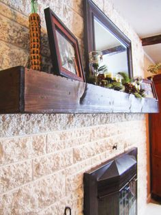 Fearfully & Wonderfully Made: The Making of a Slip Covered Mantel Decor, Home Diy, Mantle, Diy Fireplace, Brick Fireplace Makeover, Diy Home Decor, Old Fireplace, Brick Fireplace, Home Decor
