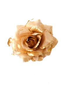 Spaanse haar roos (elastiek) goud NIEUW