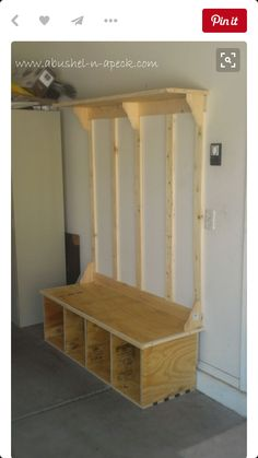 Diy Entryway Bench With Shoe Storage DIY Storage Bench Ideas Guide Patterns. Home Design Ideas Shoe Storage Diy, Garage Storage, Shoe Cubby, Hallway Storage, Wall Storage, Basement Storage, Entryway Closet, Storage Baskets, Kitchen Storage