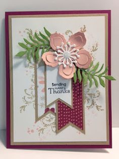 My Creative Corner!: A Botanical Builder and Petite Pairs Thank You Card