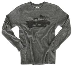 c35bbb8dd6a Men s Classic American Truck Thermal Long Sleeve Shirt (Heather Gray)