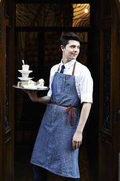 The feeling of your food being delivered to your table Meet Gabriel Galand, a Talented Waiter at Buvette Paris - Waiter Uniform, Hotel Uniform, Restaurant Uniforms, Inka, Work Uniforms, Coffee Time, Work Wear, Catering, At Least
