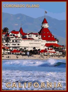 Coronado-Island-San-Diego-California-United-States-Travel-Advertisement-Poster