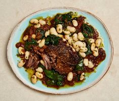 Yotam Ottolenghi's bean recipes - Yotam Ottolenghi's bean recipes Yum! Yotam Ottolenghi's short ribs with figs and butter beans/bean recipes Yotam Ottolenghi, Ottolenghi Recipes, Braised Short Ribs, Beef Short Ribs, Braised Beef, Cooking For Three, Cooking Recipes, Healthy Recipes, Cooking Ideas