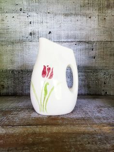 Pitcher Mid Century Pictcher Rustic Handmade Vase Tulip Vase Homemade Pitcher Clay Flower Vase Farmhouse Chic Water Pitcher Ceramic Pitcher by TheDustyOldShack on Etsy